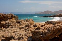 海岸岩石的克利特 库存图片