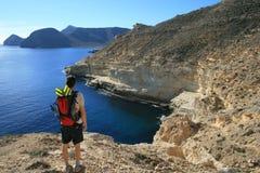 海岸岩石西班牙 免版税库存照片