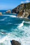 海岸岩石 库存图片