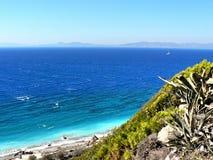 海岸希腊罗得斯 库存照片