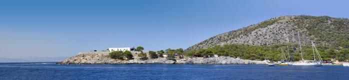 海岸希腊 库存照片