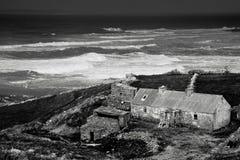 海岸幽谷西方的爱尔兰 库存图片