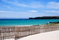 海岸强劲的西班牙tarifa 库存图片