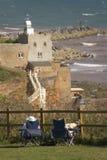 海岸德文郡英国侏罗纪sidmouth 免版税库存照片