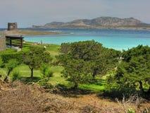 海岸意大利撒丁岛夏天 免版税库存照片