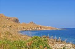 海岸意大利西西里岛 免版税库存图片