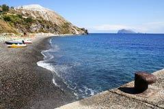海岸意大利lipari 免版税库存照片