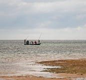 海岸捕鱼蒙巴萨 免版税图库摄影