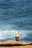海岸捕鱼 免版税图库摄影