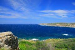 海岸撒丁岛海运 免版税库存照片