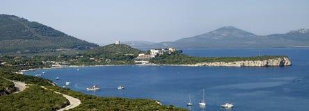 海岸撒丁岛 免版税库存照片