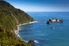 海岸新的西方西兰 免版税库存照片