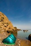 海岸旅游海运的帐篷 免版税库存照片