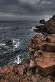 海岸普罗旺斯红色岩石 免版税库存照片