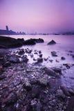 海岸横向岩石 免版税图库摄影