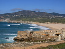 海岸横向葡萄牙 库存图片