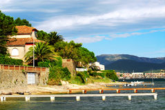 海岸法国地中海里维埃拉 免版税图库摄影