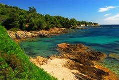 海岸法国地中海里维埃拉 库存图片
