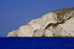 海岸海岛岩石zakynthos 免版税图库摄影