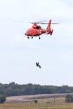 海岸海豚卫兵直升机 免版税库存照片