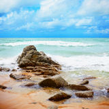 海岸热带横向的海洋 免版税图库摄影