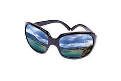 海岸玻璃反映 免版税图库摄影