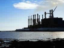 海岸的工厂 图库摄影