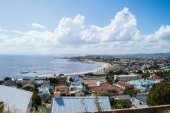 海岸的开普敦郊区,西开普省,南非 库存照片