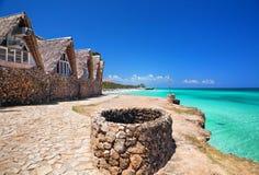 从海岸的看法向大西洋 免版税库存照片