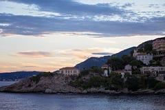 海岸的看法在法国海滨 免版税图库摄影