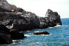 海岸的看法在Portovenere附近的我 免版税库存图片