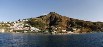 海岸的看法,意大利 全景 免版税库存照片