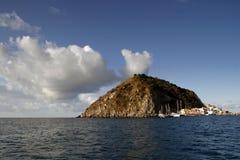 海岸的看法,意大利 免版税库存照片