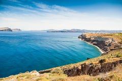 海岸的美丽的景色 库存图片