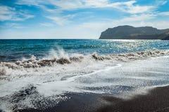 海岸的美丽的景色 免版税库存照片