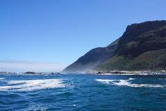 海岸的美好的风景在开普敦,南非 免版税图库摄影
