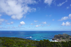 海岸的美好的风景在Capepoint的在开普敦 库存图片
