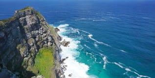 海岸的美好的风景在Capepoint的在开普敦 免版税库存照片
