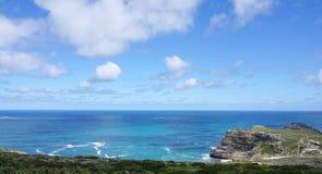 海岸的美好的风景在Capepoint的在开普敦 图库摄影