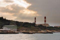 海岸的能源厂在金门,台湾 免版税库存图片