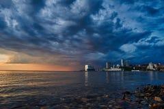 海岸的Sanset 免版税库存照片