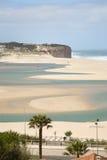 海岸盐水湖obidos葡萄牙银 免版税库存图片