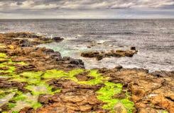 海岸看法在Portstewart 免版税库存照片