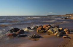 海岸石头 免版税库存照片
