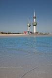 海岸科威特塔 免版税库存照片