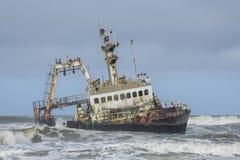 海岸纳米比亚概要 免版税库存图片