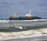 海岸纳米比亚海难概要 免版税库存照片