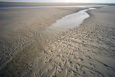 海岸线低潮 库存图片