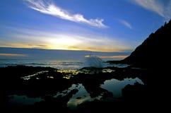 海岸线俄勒冈 库存照片
