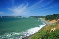 海岸线南部的俄勒冈 免版税库存照片